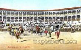 spo017108 - Entrada de la cuadrilla Bullfighting Postcard Postcards