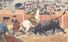 spo017187 - Artist Frank Dean, Bull Fighting Postcard Postcards