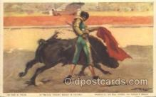 spo017237 - Bull Fight Bull Fighing, Bullfighting Postcard Postcards
