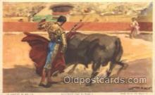 spo017238 - Pase with the Muleta Bull Fighing, Bullfighting Postcard Postcards