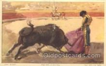 spo017239 - Pase with the Cape Bull Fighing, Bullfighting Postcard Postcards