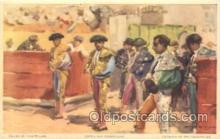 spo017241 - Forming of the Cuadrillas Bull Fighing, Bullfighting Postcard Postcards