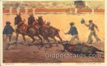 spo017244 - Dragging the Dead Bull Away Bull Fighing, Bullfighting Postcard Postcards