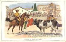 spo017250 - Suerte de varas Bull Fighing, Bullfighting Postcard Postcards