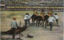 spo017257 - Mexico Bull Fighting, Bullfighting Postcard Postcards