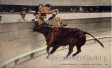 spo017259 - Mexican Bull flight, Mexico Bull Fighting, Bullfighting Postcard Postcards