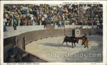 spo017266 - Nuevo Laredo, Mexico Bull Fighting, Bullfighting Postcard Postcards