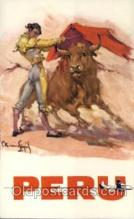 spo017267 - Advertising Pan American Grace Airways, Inc. Cruauo Flojiol Bull Fighting, Bullfighting Postcard Postcards