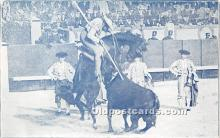 spo017279 - Old Vintage Bull Fighting Postcard Post Card