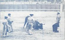 spo017287 - Old Vintage Bull Fighting Postcard Post Card