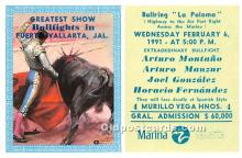 spo017297 - Old Vintage Bull Fighting Postcard Post Card
