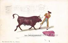 spo017301 - Old Vintage Bull Fighting Postcard Post Card