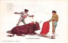 spo017302 - Old Vintage Bull Fighting Postcard Post Card