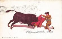 spo017306 - Old Vintage Bull Fighting Postcard Post Card