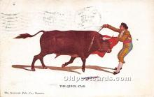 spo017307 - Old Vintage Bull Fighting Postcard Post Card