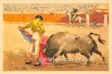 spo017313 - Old Vintage Bull Fighting Postcard Post Card