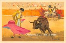 spo017314 - Old Vintage Bull Fighting Postcard Post Card