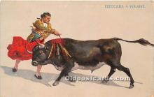 spo017315 - Old Vintage Bull Fighting Postcard Post Card
