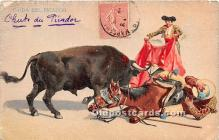 spo017316 - Old Vintage Bull Fighting Postcard Post Card