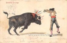 spo017317 - Old Vintage Bull Fighting Postcard Post Card