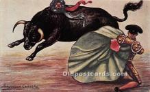 spo017318 - Old Vintage Bull Fighting Postcard Post Card