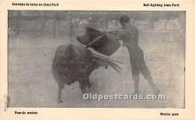spo017324 - Old Vintage Bull Fighting Postcard Post Card