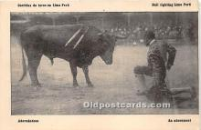 Adornandose, Bull Fighting Lima Peru