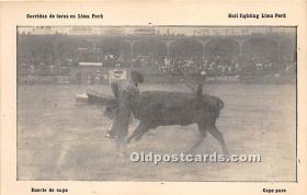 Suerte de Capa, Bull Fighting Lima Peru