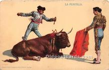 spo017335 - Old Vintage Bull Fighting Postcard Post Card
