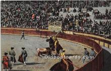 spo017339 - Old Vintage Bull Fighting Postcard Post Card