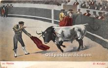 spo017340 - Old Vintage Bull Fighting Postcard Post Card