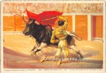 spo017342 - Old Vintage Bull Fighting Postcard Post Card