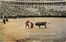 spo017345 - Old Vintage Bull Fighting Postcard Post Card