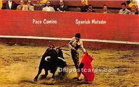 Paco Camino Spanish Matador