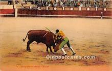 spo017352 - Old Vintage Bull Fighting Postcard Post Card