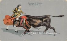 spo017353 - Old Vintage Bull Fighting Postcard Post Card