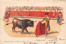 spo017355 - Old Vintage Bull Fighting Postcard Post Card