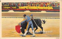 spo017356 - Old Vintage Bull Fighting Postcard Post Card