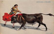 spo017357 - Old Vintage Bull Fighting Postcard Post Card