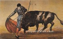 spo017358 - Old Vintage Bull Fighting Postcard Post Card