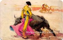 spo017361 - Old Vintage Bull Fighting Postcard Post Card