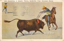 spo017362 - Old Vintage Bull Fighting Postcard Post Card