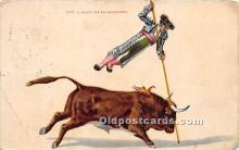 spo017363 - Old Vintage Bull Fighting Postcard Post Card