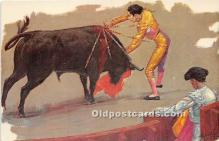 spo017369 - Old Vintage Bull Fighting Postcard Post Card