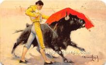 spo017370 - Old Vintage Bull Fighting Postcard Post Card