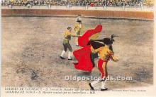 spo017380 - Old Vintage Bull Fighting Postcard Post Card