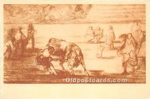 spo017384 - Old Vintage Bull Fighting Postcard Post Card