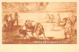 Martincho vuelca un toro en la Plaza de Madrid, Museo del Prado