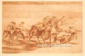 Palenque de los mozos hecho con burros, Museo del Prado