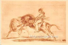 Ceballos montado sobre otro toro, Museo del Prado